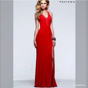 Faviana Red Gown